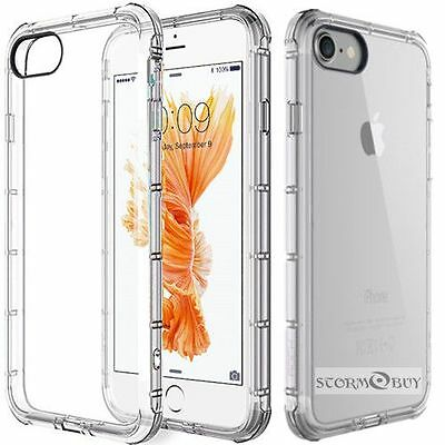 Fits Apple iPhone SE / 5s 5 Case Silicone Clear Shockproof Rubber Protective TPU