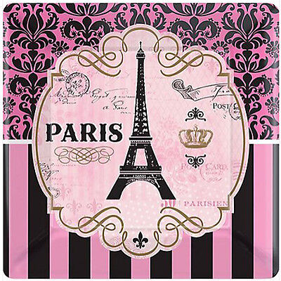 Bridal Shower Paper (BRIDAL SHOWER Day in Paris SMALL PAPER PLATES (8) ~ Wedding Party Supplies)