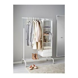 IKEA RIGGA Clothes Rail / Clothes Rack. White *brand new* *excellent condition*