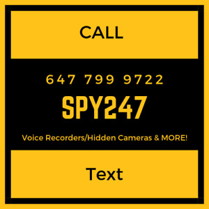 Spy 247 - 647 799 9722 GPS Trackers/Voice Recorders/Cameras