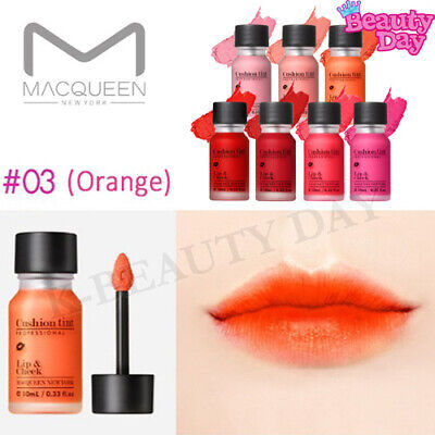 MACQUEEN Creamy Cushion Lip Tint 10ml #03 Orange / All Day Vivid Color Lip Stain