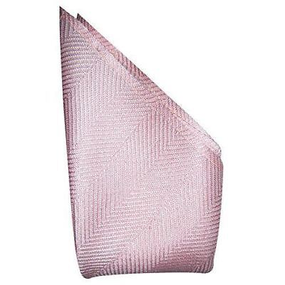 Hush Pink Herringbone Silk Pocket Square - Full-Sized 16