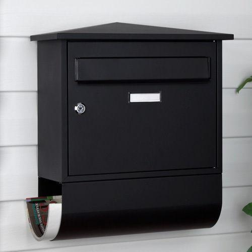 Black Wall Mount Mailbox Ebay