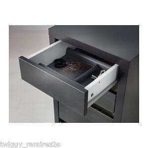 Ikea micke cassettiera rotelle marrone nero tre cassetti - Ikea cassetti ufficio ...