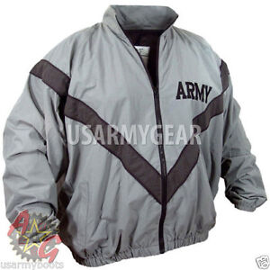 US-Army-Military-Physical-Training-Fitness-PT-Uniform-Top-Sweat-Jacket-DSCP-USGI