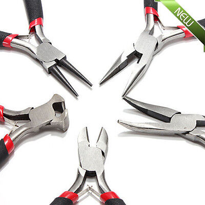 """5pcs JEWELERS PLIERS SET JEWELRY MAKING BEADING WIRE WRAPPING HOBBY 5"""" PLIER US#"""