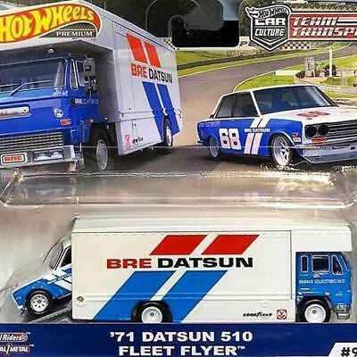 Hot Wheels 2019 TEAM TRANSPORT 71 BRE DATSUN 510 AND FLEET FLYER  - PRE ORDER