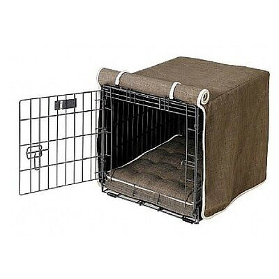 Microlinen Luxury Crate - Bowsers Pet Products DRIFTWOOD Microlinen Luxury Dog Crate Cover  — Pick Size