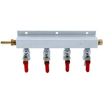 4 Way CO2 Distribution Block Manifold with 1/4