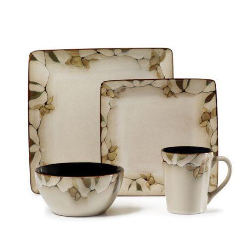 Dinnerware Sets Casual Stoneware White eBay