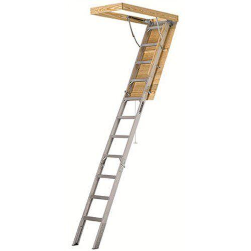 375lb Capacity Loft Stair Way Aluminum Pull Down Attic Ladder Insulated Panel