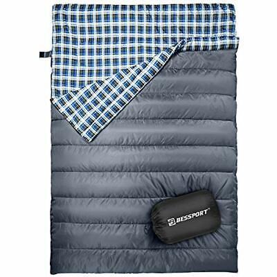 Bessport 2 Person Sleeping Bag,Water Repellent Sleeping Bags Lightweight 3 Se...