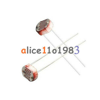 50pcs Photo Light Sensitive Resistor Photoresistor Optoresistor 5mm Gl5528