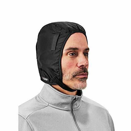 Winter Hard Hat Liner, Thermal Fleece Lining, Chin Length,  N Black Chin Length
