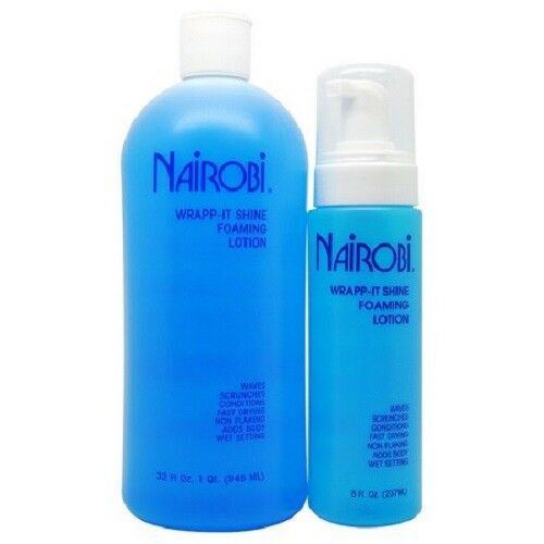 Nairobi Wrapp-It Shine Foaming Lotion 32oz + 8oz DUO SET Hair Care & Styling