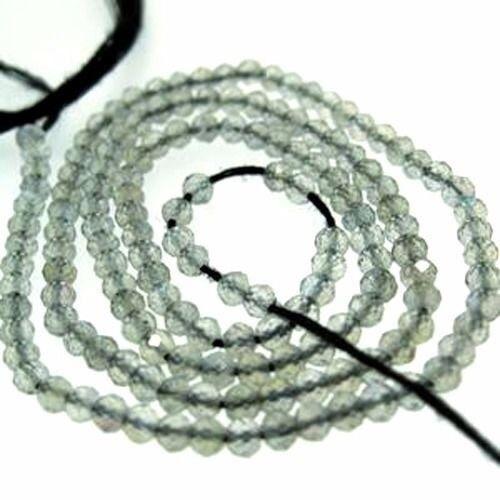 Gemstone Beads- Labradorite Faceted Round Gemstones-2.5mm -13 inches