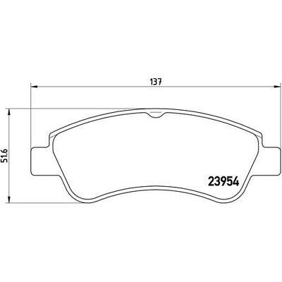 BREMBO Bremsbelagsatz Scheibenbremse P 61 066 vorne für PEUGEOT 208 2008 307 3A