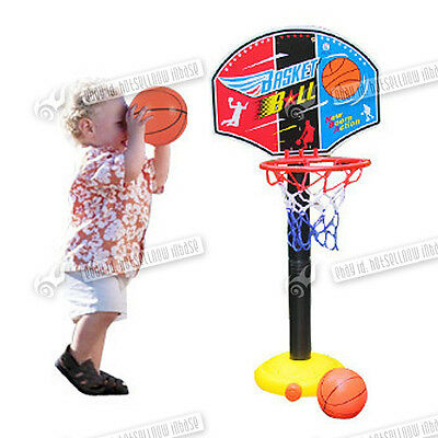 Garden Portable Child Kids Basketball Stand Backboard Hoop Net Set Xmas Toys