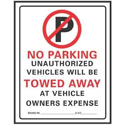 Hy-ko Prod No Parking Sign 19 X 15 702
