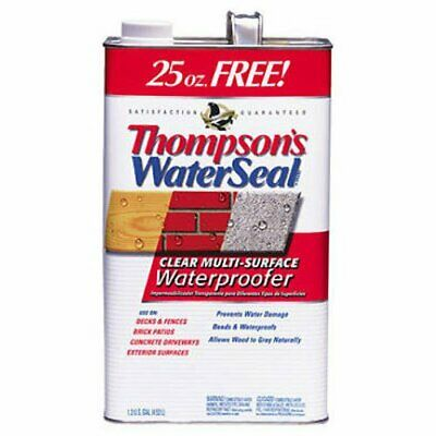 Thompsons Water Seal 24111 1.2-Gallon Clear Low VOC Water Sealer for Exterior...