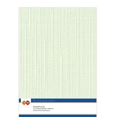 (EUR 4,81/m²) Leinenkarton 10xA4-Bogen lichtgrün 19