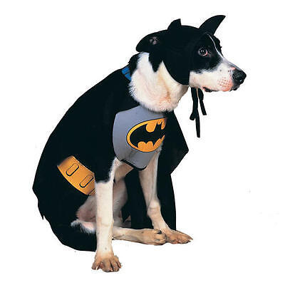 Pet Dog Cat Batman Costume Rubies Fancy Dress Halloween Outfit Superhero (Batman Hund Kostüme Xl)