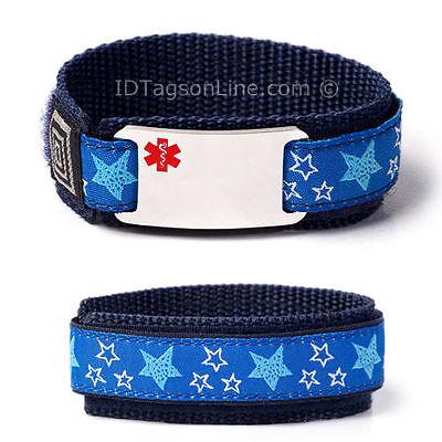 Medical Medical Id Bracelet - Sport Medical Alert ID Bracelet for Kids. Free wallet Card! Free engraving!