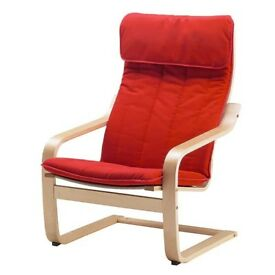 Ikea POÄNG Armchair red