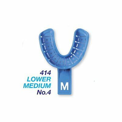 Disposable Dental Impression Trays With Rim Lock Lower Medium No.4 10pcs 414
