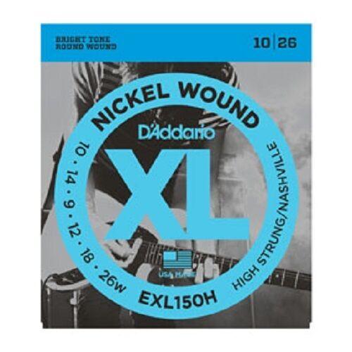 D'Addario XL Nickel Wound Electric Guitar Strings - High Strung/Nashville Tuning