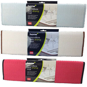 2 x microfibre plat essuyage vier cuisine vaisselle gouttoir torchon tapis ebay. Black Bedroom Furniture Sets. Home Design Ideas