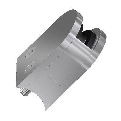 Glasklemme 63 x 45 x 30 /42,4 Glashalter Glasklemmhalter mit Sicherungsblech