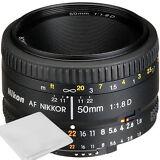 NEW Nikon AF Nikkor 50mm f/1.8D Lens for DSLR Cameras +Cleaning Cloth USA SELLER