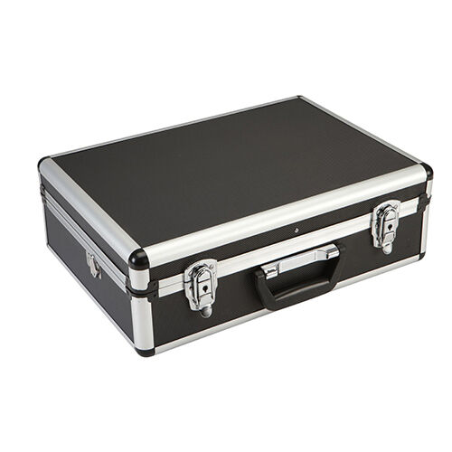 Barber Stylist Makeup Aluminum Clipper Black Tool Case - Fits Andis, Oster, Wahl