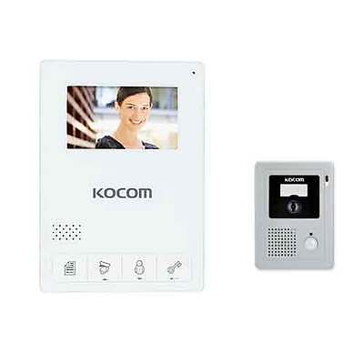 "NEW KOCOM KCV-434 White 4.3"" TFT LCD Color Video Phone KC-C60 Door Camera Touch"