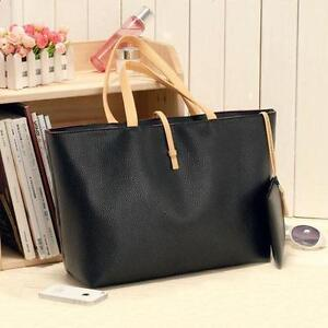 Women's bag handbag tote bag shoulder bag satchel handbag black and beige