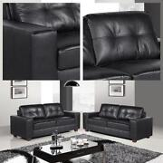 2 x Leather Sofas