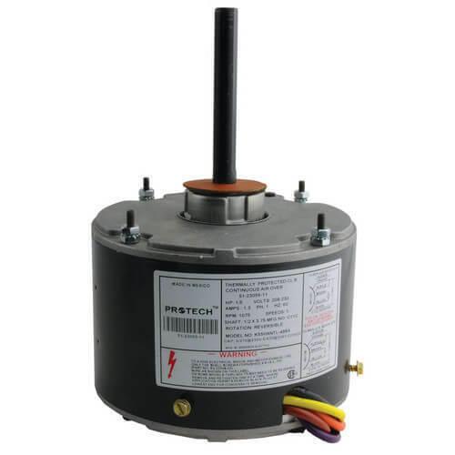 Rheem 51-23055-11 Condenser Fan Motor 1/5 HP, 208-230V, 1075 RPM, 1 Speed