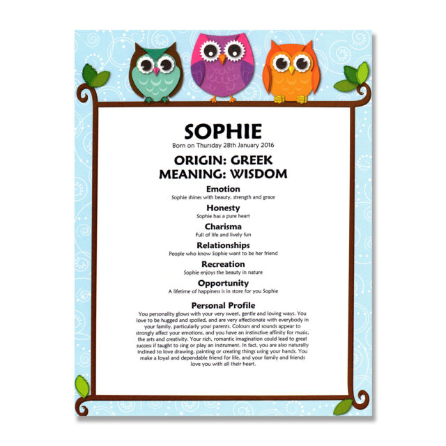 Personalised name meaning print christening birthday baby boy girl personalised name meaning print baby boy girl nursery christening birthday gift negle Gallery