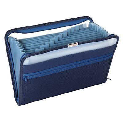 NEW Pendaflex Fabric Poly Expanding File 13 Pocket Dark Blue Each covid 19 (Globe Weis Fabric coronavirus)