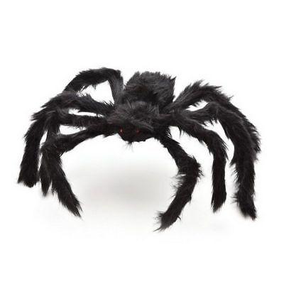 Spider Halloween Decoration Haunted House Prop Indoor Outdoor Black Giant 300 mm