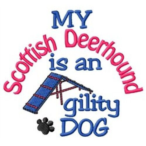 My Scottish Deerhound is An Agility Dog Short-Sleeved Tee - DC1830L