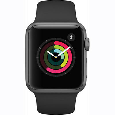 New Sealed Apple Watch 2 Series 1 38Mm Space Gray Aluminum Case Black Sport Band