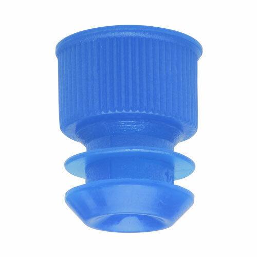 Test Tube Cap, Flange Type, 13mm, Blue (Case 20000)