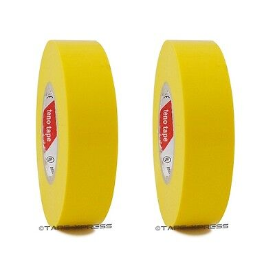 2 Roll Yellow Vinyl Pvc Electrical Tape 34 X 66 Flame Retardant Free Shipping
