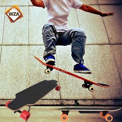 Electric Longboard Skateboard 4 Wheels Skate Board + Wireless Remote Controller
