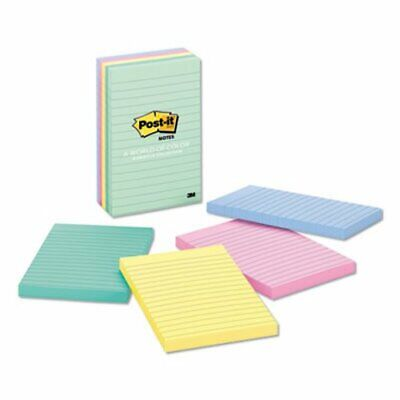 Post-it Notes Lined Pads 4 X 6 Pastel Colors 5 Pads Mmm6605pkast