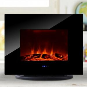 Wall Mounted Free Standing Electric Fireplace 750W/1500W remote