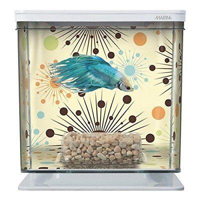 NEW Marina Betta Aquarium Starter Kit, Boy Fireworks FREE2DA