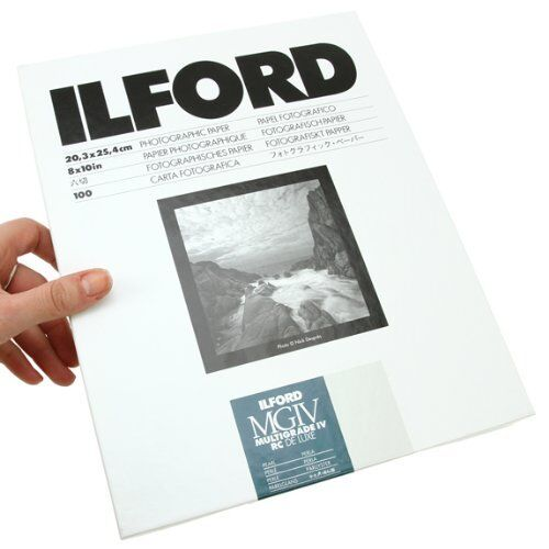 """Ilford Multigrade IV RC DeLuxe Paper (Pearl, 8 x 10"""", 100 Sheets) #1771318"""